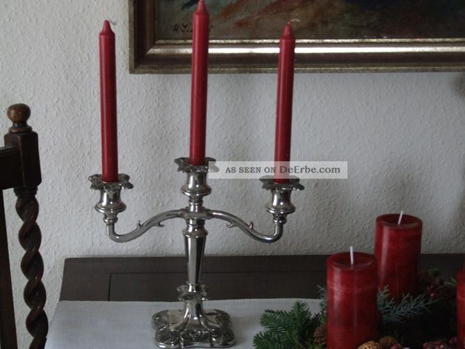 Kerzenleuchter versilbert england weinlaub antik silverplated