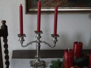 Kerzenleuchter Versilbert England Weinlaub Antik Silverplated Bild