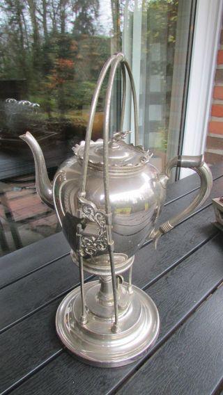 Gerhardi Und Co Kaffeekocher Teekocher Wasserkocher Schwenksamowar Antik Bild