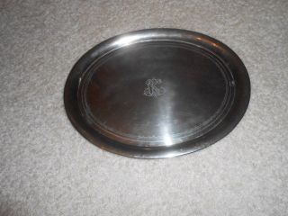 Ovale Silbertablett Servierplatte Gemarkt - H Adler A JÜrst&co Um 1900 Bild