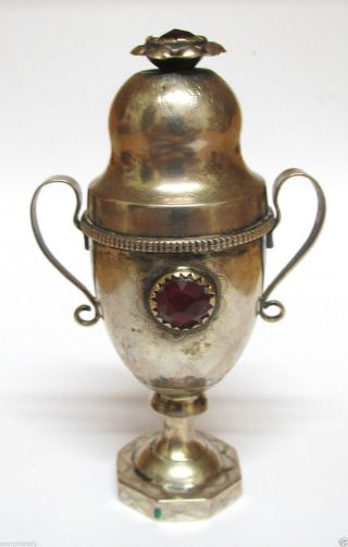 Biedermeier Silber Miniatur Vase Behältnis Um 1835,  P.  C.  Christensen,  Dänemark Bild
