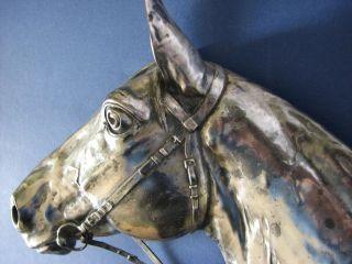 Relief Pferdekopf 3d Effekt Mit Initialen Des Künstlers Bild