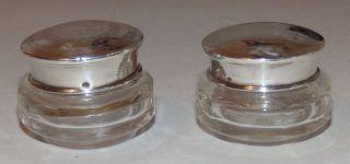 2 Dekorative Kleine GlasdÖschen Mit Silberdeckel Ansehen Lohnt Bild