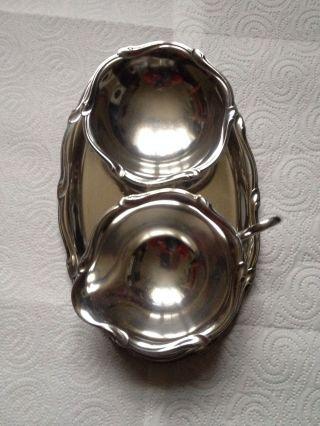Silberbesteck Wmf 2900 Zucker/milchset Mit Tablett Versilbert Bild