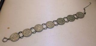 Silber - Münzarmband Feinsilber Antik 7 Münzen 1/2 Mark Von 1906/15/16/18 Bild