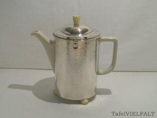 Art Déco Thermo - Zylinder Kaffeekanne Wmf/ Hutschenreuter - 1,  4 L - Hammerschlag Bild