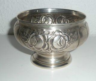 Gr.  Schale Aus Silber,  Mit Fuss,  Feines Dekor,  Mehrere Stempel, Bild