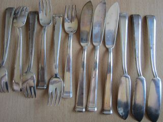 Bruckmann,  Silber,  800er,  6 Fischmesser,  6 Gabeln Bild