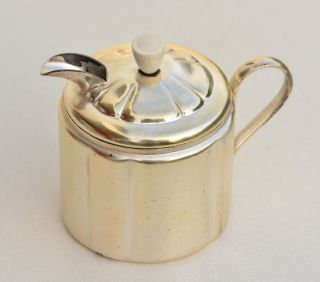 Sahnegießer Milchkännchen Hammerschlagoptik Versilbert Antik Bild