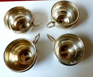 4 Antike Silber Tassen - 4 Sehr Alte Silbertassen Diana Punze 950er Silber Rar Bild
