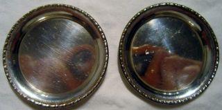 2 Kleine Silber Untersetzer Aus 800er Silber Mit Randmuster Im Art Dekor Um 1920 Bild