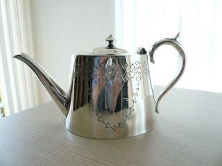 ♛ Herrliche Englische Klassische Silber Teekanne