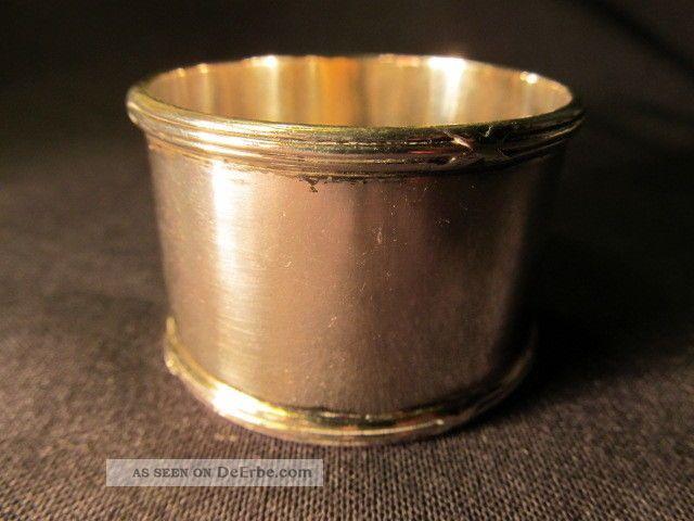 Schlichter Serviettenring - Silber 800 Gepunzt Objekte vor 1945 Bild