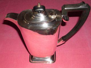 Kaffee - Kanne Mit Deckel.  Silber.  Form - SchÖn & Wertvoll Bild