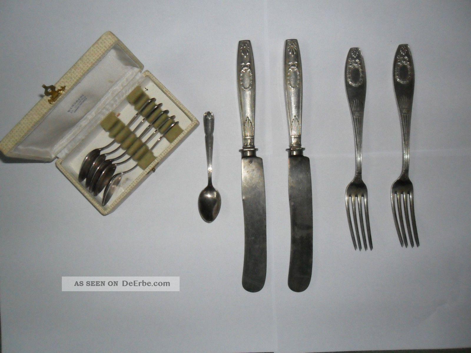 Jugendstil Besteck,  6 Kleine Löffel Silber Objekte vor 1945 Bild