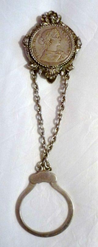 Schlüsselkette Mit Silbermünze