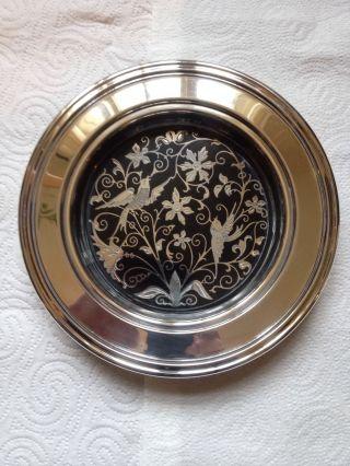 Silberschale Mit Schönen Verzierungen Oneida Usa Bild