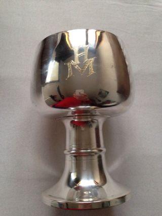 Silberbecher 800er Silber Monogammiert Mh Bild
