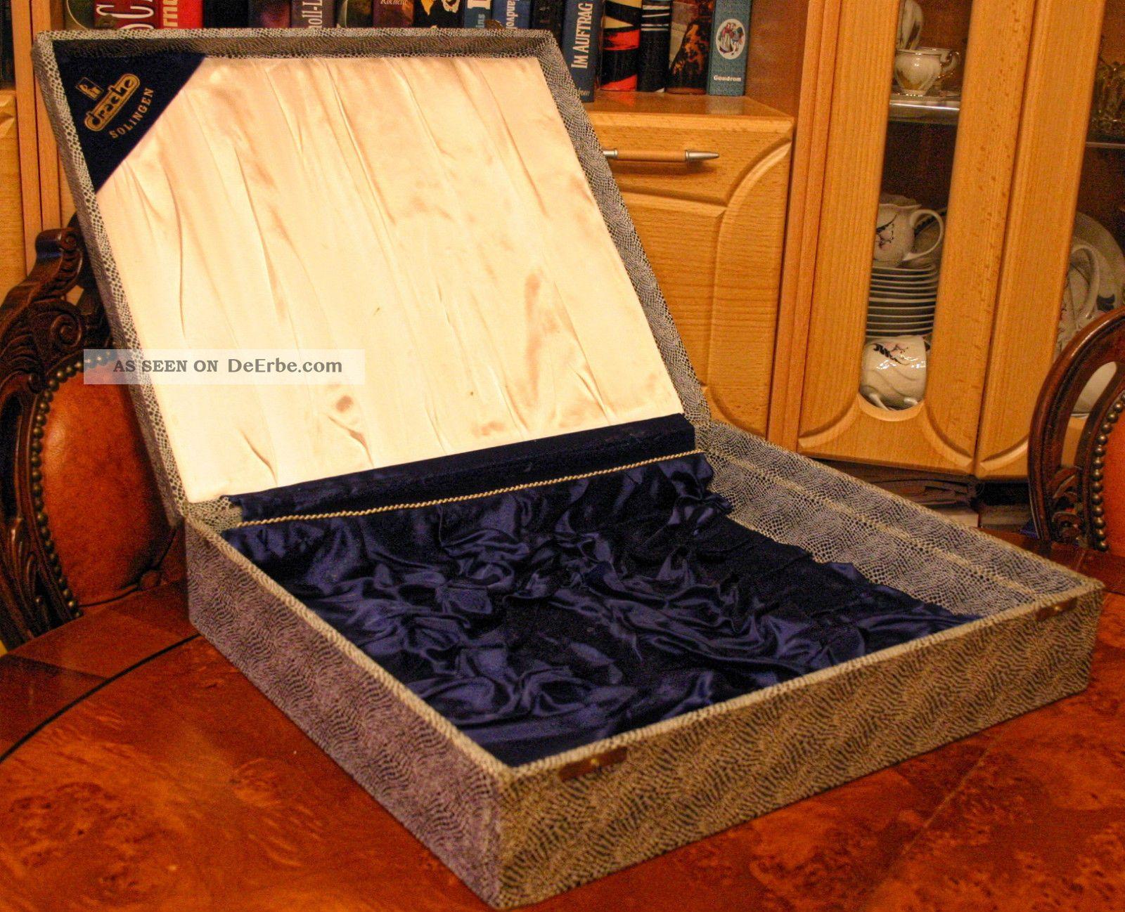 silber besteck kasten koffer leer slber drache solingen 47 5 x 40 5x10 cm. Black Bedroom Furniture Sets. Home Design Ideas