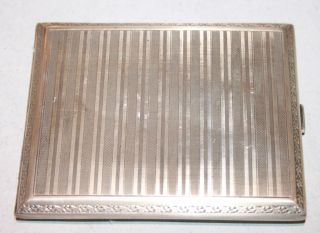 1 Wunderschönes Zigaretten Etui In 800 Er Silber Mit Gravur Bild