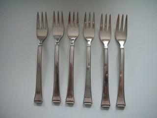 Wmf 6 Kuchengabeln Besteck 2500 Art Deco 15,  5 Cm Patent 90er Auflage Bauhaus Bild
