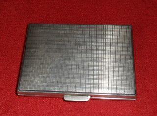 Altes Kleines Zigarettenetui Mir Gravur,  Silber 800,  Ca.  90g Bild