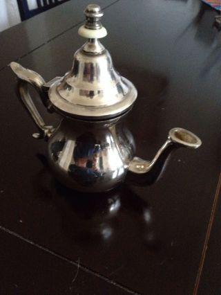 Silber Alte Mokkakanne Ca 0,  3 Liter Versilbert Bild