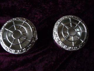 2 Kl.  Englische Rose Bowl ' S,  Blumensteck Schale,  Versilbert,  8 Cm Bild