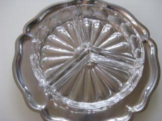 Prächtige Silbertablett Silberschale Servierschale Mit Passendem Glas Cabaret Bild
