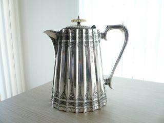 ♛ Prächtige Englische Silber Teekanne