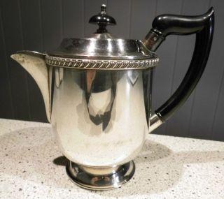 Teekanne Versilbert Viners Of Sheffield England Cutlers Company Bild