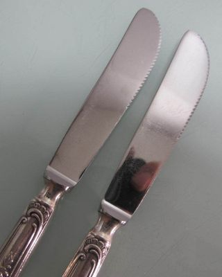 2 Messer 100er Silberauflage Rokoko Barock Bild