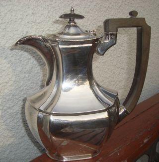 Große Englische Silber - Teekanne Walker & Hall Sheffield Versilbert Plated Bild