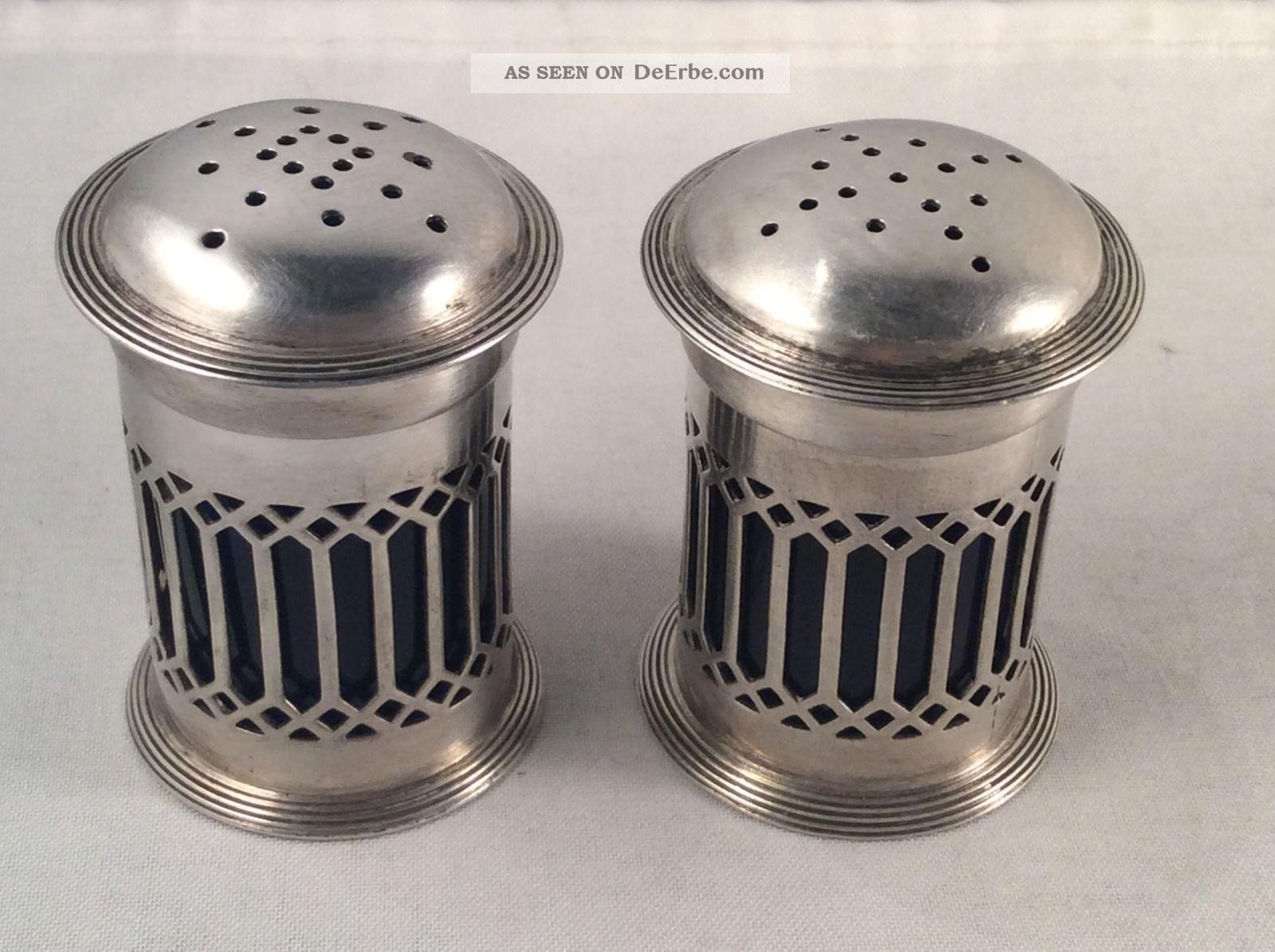 Und Pfefferstreuer 925 Silber England Um 1900