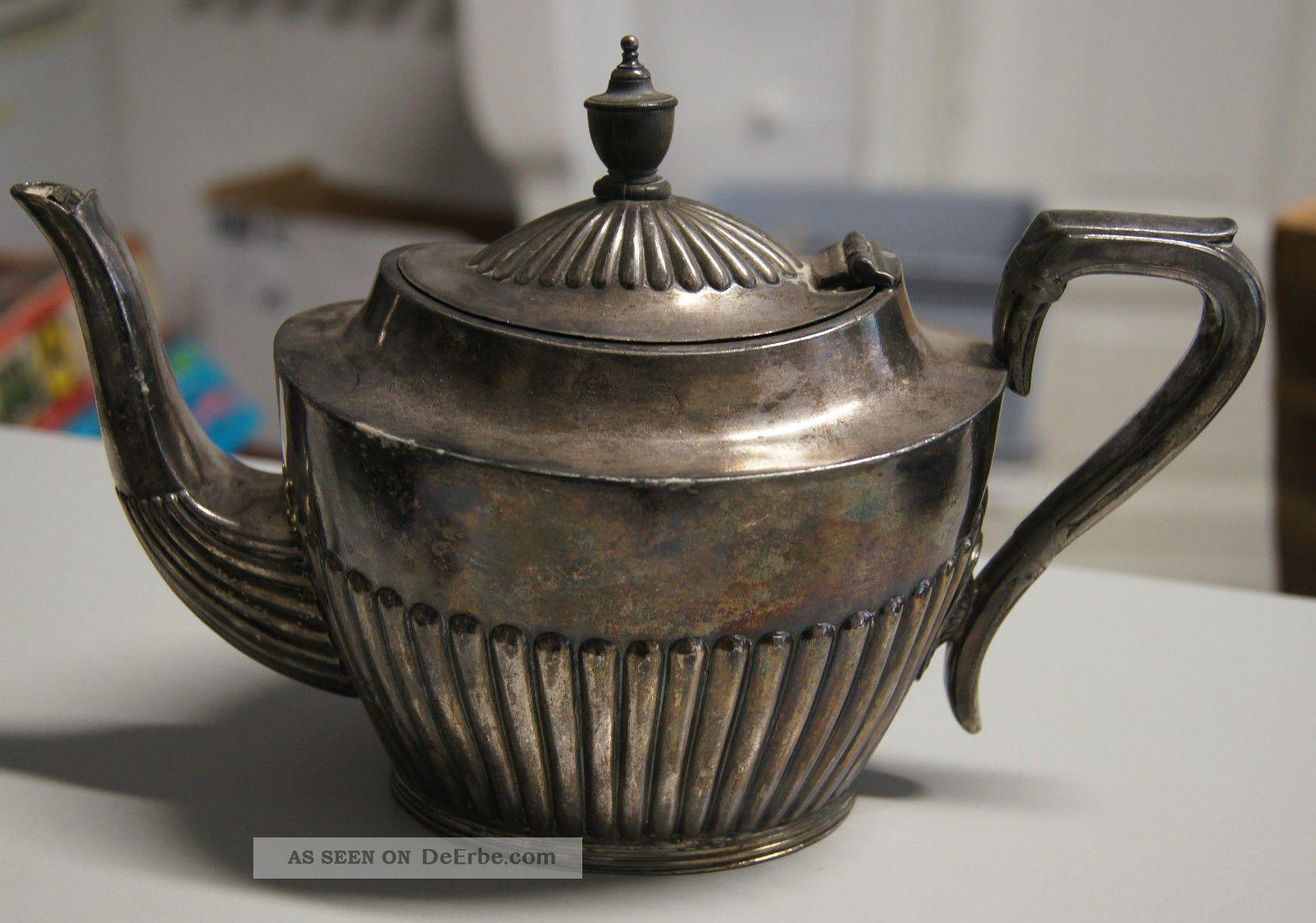 Kanne Von Mappin & Webb Sheffield Mit Der Nr.  33 Silber ?? Objekte vor 1945 Bild