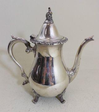 Kaffeekanne,  Versilbert Ca.  1930 - Usa - Große Kanne,  Mit Schönen Verzierungen Bild
