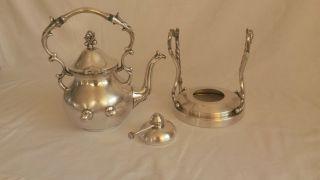 Wunderschöne Versilberte Alte Antike Kanne Tee - Kaffeekanne Bild
