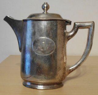 Hotelsilber - Kaffeekännchen/portionskännchen - Tafelsilber Für Sammler Bild