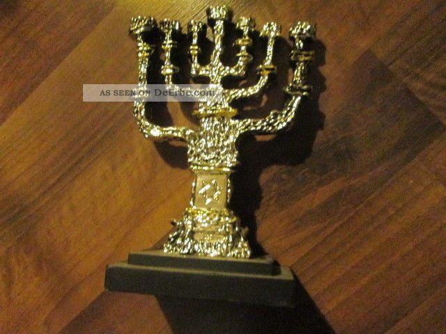 eine menora 925 versilberter kerzen leuchter 7armig aus jerusalem. Black Bedroom Furniture Sets. Home Design Ideas