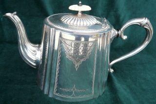 Versilberte Englische Teekanne Daniel & Arter – Birmingham – England Bild