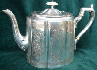 Versilberte Englische Teekanne James Dixon & Sons – Sheffield – England Bild