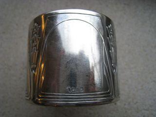 Schöner Alter Serviettenring 800 Silber Gepunzt Jugendstil Bild