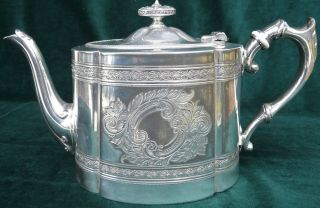 Versilberte Englische Teekanne James Dixon & Sons – Birmingham Bild