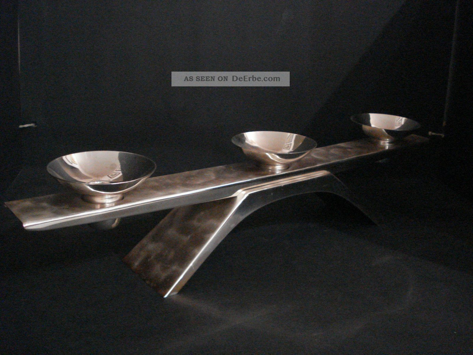 wmf ikora kerzenhalter versilberter kerzenst nder art deco bienenkorb turm. Black Bedroom Furniture Sets. Home Design Ideas