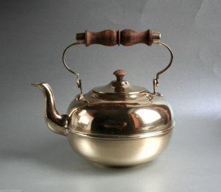 Messing Teekanne Schenkkanne,  Wasserkanne H:18cm Bild