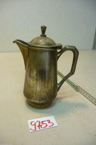 Nr.  9753.  Alte Kaffeekanne Versilberte Teekanne Old Coffee / Tea Pot Bild