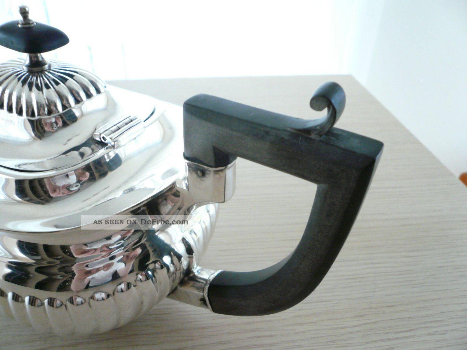 klassische gerippte englische silber teekanne william marples sheffield. Black Bedroom Furniture Sets. Home Design Ideas