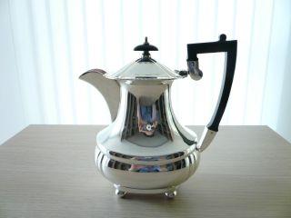 Herrliche Englische Art Deco Silber Teekanne