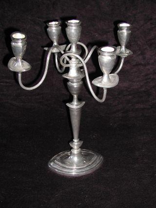 Jugentstiel / Art De´co? Kerzenständer Silberfarben Sehr Ausgefallen Ca 3,  2 Kg - Bild