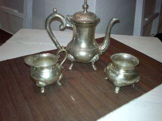 Kaffeekanne,  Teekanne,  Zuckerdose,  Silber,  England,  Dachbodenfund,  Kellerfund Bild